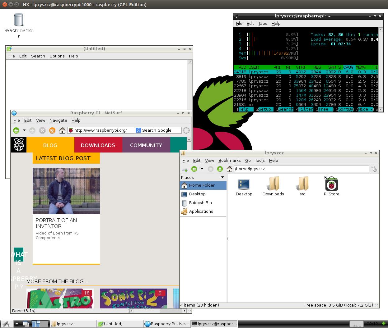 Raspberry Pi 2 over NX